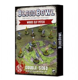 BLOOD BOWL -  DOUBLE-SIDED WOOD ELF PITCH AND DUGOUT SET