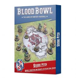 BLOOD BOWL -  SEVENS PITCH: DOUBLE-SIDED PITCH AND DUGOUTS FOR BLOOD BOWL SEVENS