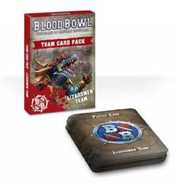 BLOOD BOWL -  TEAM CARD PACK - LIZARDMEN (ENGLISH)