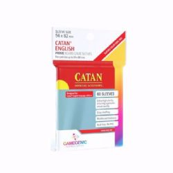 BOARD GAMES SLEEVES -  CATAN ENGLISH (56MM X 82MM) (60) -  GAMEGENIC