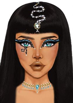 BODY JEWELS -  CLEOPATRA ADHESIVE FACE JEWELS STICKER - CLEAR