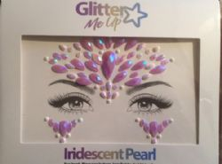 BODY JEWELS -  SKY ADHESIVE FACE JEWELS STICKER - IRIDECENT PEARL
