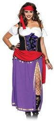 BOHEMIAN -  TRAVELING GYPSY COSTUME (PLUS SIZE)