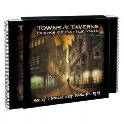 BOOK OF BATTLE MATS -  TOWNS AND TAVERNES