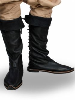 BOOTS -  TRAVELER'S BOOTS - BLACK