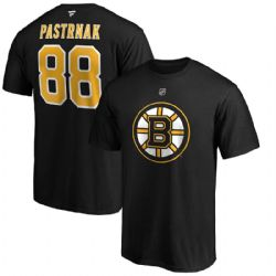 BOSTON BRUINS -  DAVID PASTRNAK #88 T-SHIRT - BLACK