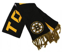BOSTON BRUINS -  SCARF - BLACK