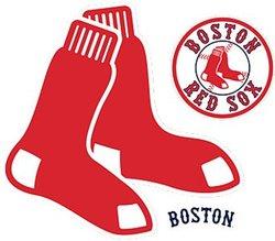 BOSTON RED SOX -  LOGO - REUSABLE WALL DECAL
