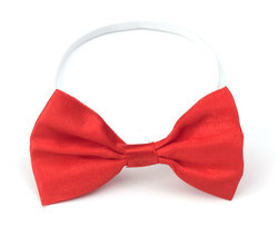 BOW TIE -  BOW TIE - RED (WITH ELASTIC)