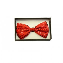 BOW TIE -  BOW TIE - SEQUIN RED