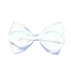 BOW TIE -  BOW TIE - WHITE (WITH ELASTIC)
