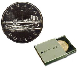 BRILLIANT DOLLARS -  150TH ANNIVERSARY OF THE INCORPORATION OF THE CITY OF TORONTO IN 1834 -  1984 CANADIAN COINS