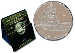 BRILLIANT DOLLARS -  225TH ANNIVERSARY OF THE DISCOVERY OF THE QUEEN CHARLOTTE ISLANDS -  1999 CANADIAN COINS