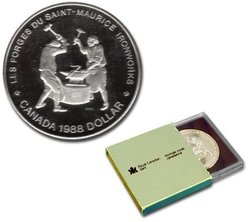BRILLIANT DOLLARS -  250TH ANNIVERSARY OF THE SAINT-MAURICE IRONWORKS -  1988 CANADIAN COINS