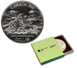 BRILLIANT DOLLARS -  MACKENZIE RIVER BICENTENNIAL -  1989 CANADIAN COINS