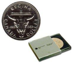 BRILLIANT DOLLARS -  REGINA CENTENNIAL -  1982 CANADIAN COINS