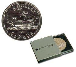 BRILLIANT DOLLARS -  TRANS-CANADA RAILWAY CENTENNIAL -  1981 CANADIAN COINS