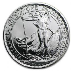 BRITANNIA -  BRITANNIA - 1 OUNCE FINE SILVER COIN -  2013 GREAT BRITAIN COINS
