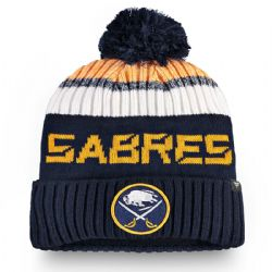 BUFFALO SABRES -  BEANIE WITH POMPOM - BLUE