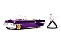 CADILLAC -  ELVIS & 1956 CADILLAC ELDORADO 1/24 - PURPLE -  HOLLYWOOD RIDES