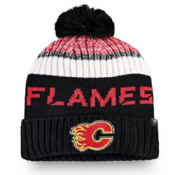 CALGARY FLAMES -  BEANIE WITH POMPOM - BLACK
