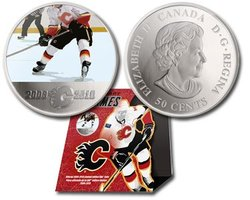 CALGARY FLAMES -  CALGARY FLAMES PLAYER -  2010 CANADIAN COINS
