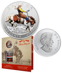 CALGARY STAMPEDE -  100TH ANNIVERSARY OF THE CALGARY STAMPEDE WITH TWO STAMPS -  2012 CANADIAN COINS