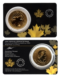 CALL OF THE WILD -  HOWLING WOLF - 1 OUNCE PURE GOLD COIN -  2014 CANADIAN COINS 01
