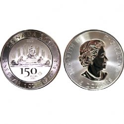 CANADA 150 -  VOYAGEUR DESIGN - 1 OUNCE FINE SILVER COIN -  2017 CANADIAN COINS
