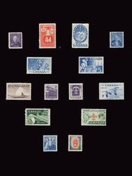 CANADA -  1955-1956 COMPLETE YEARS SET, 14 NEW STAMPS