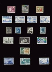 CANADA -  1957-1958 COMPLETE YEARS SET, 18 NEW STAMPS