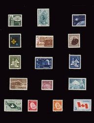 CANADA -  1965-1966 COMPLETE YEARS SET, 16 NEW STAMPS