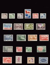 CANADA -  1967 COMPLETE YEAR SET, 22 NEW STAMPS