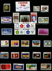CANADA -  1970 COMPLETE YEAR SET, 28 NEW STAMPS