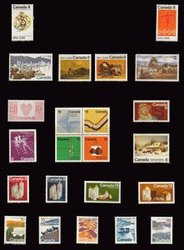 CANADA -  1972 COMPLETE YEAR SET, 23 NEW STAMPS