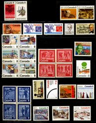 CANADA -  1974 COMPLETE YEAR SET, 32 NEW STAMPS