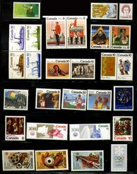 CANADA -  1976 COMPLETE YEAR SET, 28 NEW STAMPS