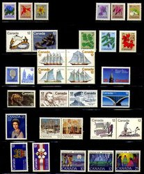 CANADA -  1977 COMPLETE YEAR SET, 32 NEW STAMPS
