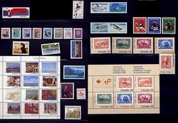 CANADA -  1982 COMPLETE YEAR SET, 46 NEW STAMPS