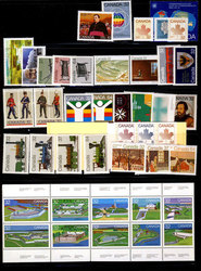CANADA -  1983 COMPLETE YEAR SET, 44 NEW STAMPS