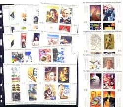 CANADA -  1999-2000 COMPLETE MILLENIUM SOUVENIR SHEETS SET