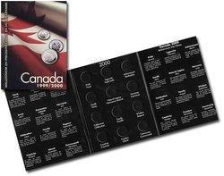 CANADA -  1999-2000 MILLENNIUM 25-CENT COINS FOLDER