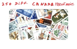 CANADA -  250 ASSORTED STAMPS - CANADA - PRE-1980