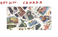 CANADA -  250 ASSORTED STAMPS - CANADA