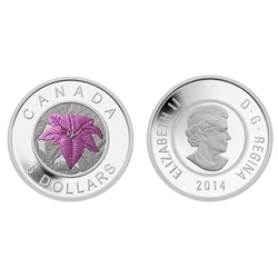 CANADA'S FAVOURITE FLOWERS -  POINSETTIA -  2014 CANADIAN COINS 03