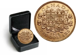CANADA'S FIRST GOLD COINS -  1914 10-DOLLAR HAND-SELECTED GOLD COIN -  1914 CANADIAN COINS