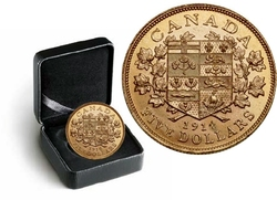 CANADA'S FIRST GOLD COINS -  1914 5-DOLLAR HAND-SELECTED GOLD COIN -  1914 CANADIAN COINS