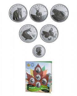 CANADA'S WILDLIFE TREASURES - 50-CENT COIN SET -  2019 CANADIAN COINS