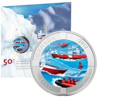 CANADIAN COAST GUARD -  50TH ANNIVERSARY OF THE CANADIAN COAST GUARD -  2012 CANADIAN COINS