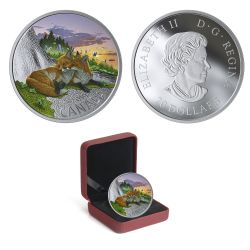 CANADIAN FAUNA -  THE FOX -  2019 CANADIAN COINS 02